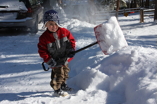 shoveling snow